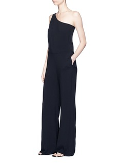 Theory 'Eilidh' knotted strap crepe one-shoulder jumpsuit
