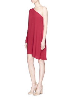 Theory 'Sintsi' asymmetric one-shoulder crepe dress