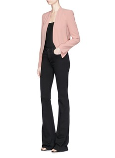 alice + olivia 'Rozanne' collarless crepe jacket
