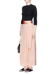 Elizabeth and James 'Almeria' satin maxi wrap skirt