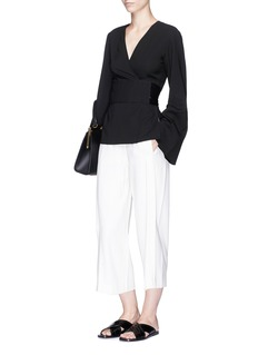 Elizabeth and James 'Telier' belted silk wrap top