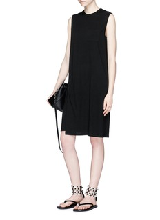 T By Alexander Wang Side split overlay jersey dress