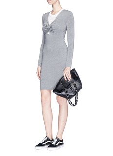 T By Alexander Wang Twist front modal jersey dress