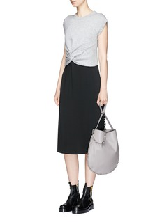 T By Alexander Wang Twist front wool-cashmere sleeveless sweater