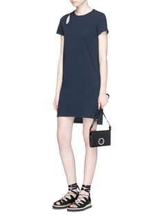 T By Alexander Wang Teardrop cutout jersey dress