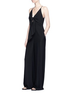 T By Alexander Wang Knot front overlay crepe jumpsuit
