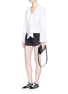 T By Alexander Wang Knot front overlay crepe top
