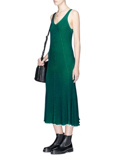 T By Alexander Wang Sleeveless plaited knit maxi dress