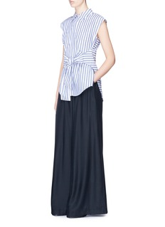 T By Alexander Wang Tie front stripe sleeveless shirt