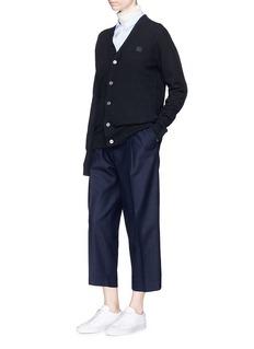 Acne Studios 'Neve Face' oversized wool cardigan