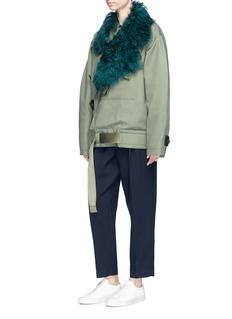 Acne Studios 'Cees' detachable shearling collar oversized cotton canvas parka