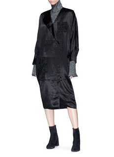 Acne Studios 'Dalma' mock wrap satin dress