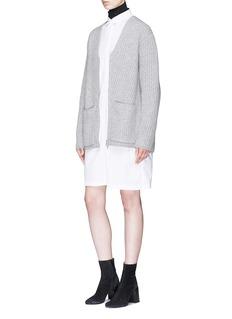 Acne Studios 'Donya L' oversized wool rib knit cardigan