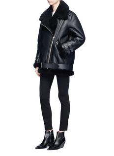 Acne Studios 'Velocite' oversized lambskin leather biker jacket