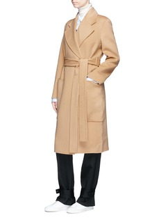 Acne Studios 'Carice Doublé' belted oversized wool-cashmere melton coat