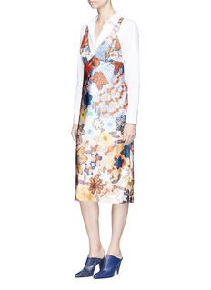 Acne Studios 'Delila' retro floral print satin dress
