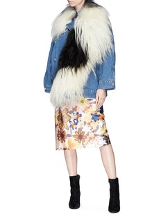 Acne Studios 'Ched' lambskin shearling denim jacket