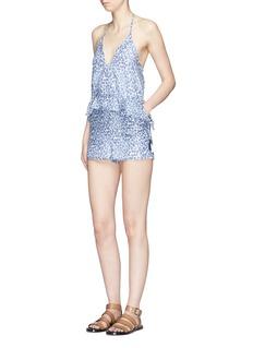 Kisuii'Ofelia' floral print drawstring waist rompers