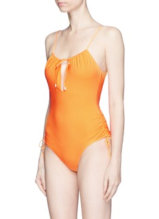Kisuii 'Uma' tie keyhole front one-piece swimsuit
