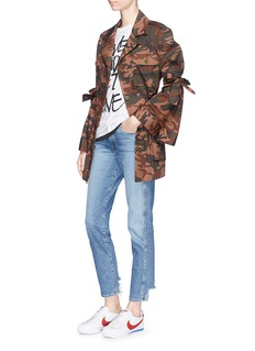 Muveil Camouflage tie sleeve utility jacket