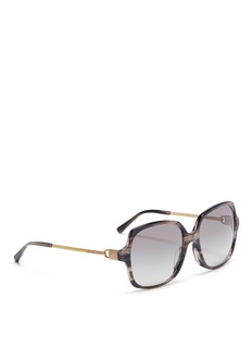 Michael Kors 'Bia' oversized streak effect acetate square sunglasses