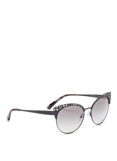 Michael Kors 'Evy' floral cutout matte metal cat eye sunglasses
