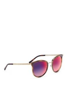 Michael Kors 'Adrianna' acetate round mirror sunglasses