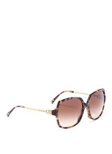 Michael Kors 'Bia' oversized tortoiseshell acetate square sunglasses