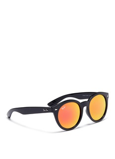 Ray-Ban 'RB4261' acetate round mirror sunglasses