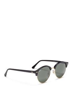 Ray-Ban 'Clubround' metal rim acetate browline sunglasses