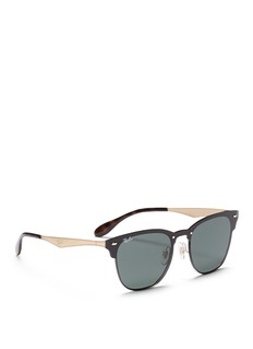 Ray-Ban 'Blaze Clubmaster' metal sunglasses