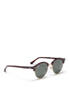 Ray-Ban 'Clubround' metal rim tortoiseshell acetate browline sunglasses