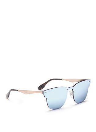 Ray-Ban | \'Blaze Clubmaster\' metal mirror sunglasses | Lane Crawford