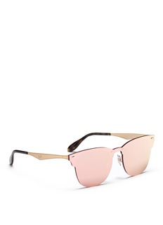 Ray-Ban 'Blaze Clubmaster' metal mirror sunglasses