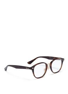 Ray-Ban 'RB5355' tortoiseshell acetate square optical glasses
