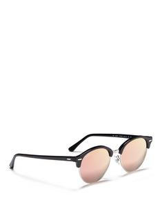 Ray-Ban 'Clubmaster Flash' metal rim round mirror sunglasses