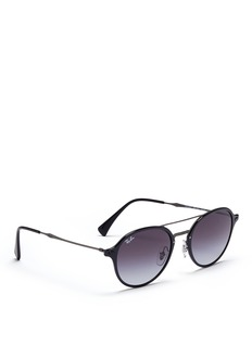 Ray-Ban'RB4287 Light Ray' acetate rim metal sunglasses