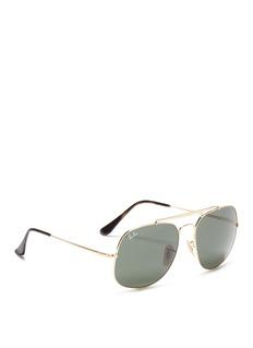Ray-Ban'General' metal top bar square sunglasses