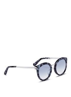 Dolce & GabbanaTortoiseshell acetate round sunglasses