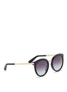 Dolce & Gabbana Metal temple acetate sunglasses