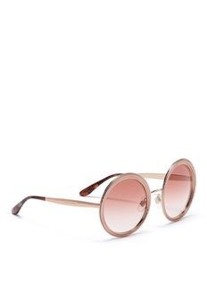Dolce & Gabbana Textured metal round sunglasses