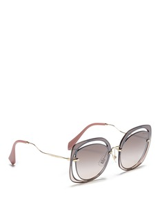 miu miu Mounted lens cutout metal sunglasses