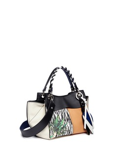 Proenza Schouler 'Curl' mixed graphic print leather shoulder bag