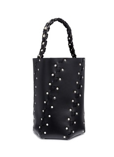 Proenza Schouler 'Hex' stud large interlocked leather panel bucket bag