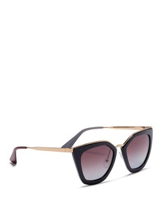 Prada Metal rim acetate angular sunglasses