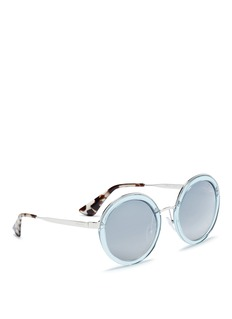 Prada Metal rim acetate round sunglasses