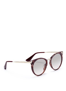 Prada Cutout corner tortoiseshell acetate cat eye sunglasses
