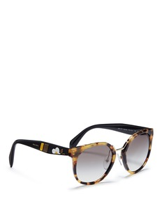 Prada Floral temple tortoiseshell acetate round sunglasses