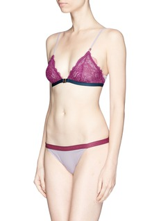 Love Stories 'Wild Rose' colourblock lace full briefs
