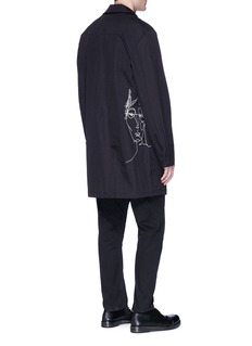 Den Im By Siki Im 'Ponyboy' face embroidered ripstop shirt jacket